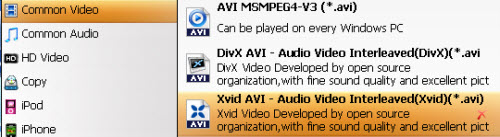 choose xvid avi format with ease