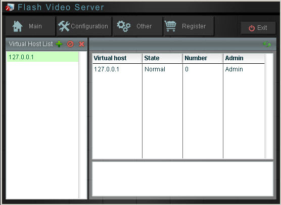 Click to view Moyea Flash Video Server 1.1.2 screenshot