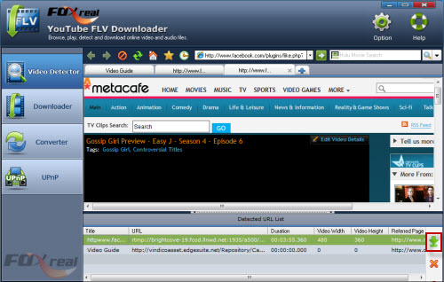 Download Flash video from Metacafe