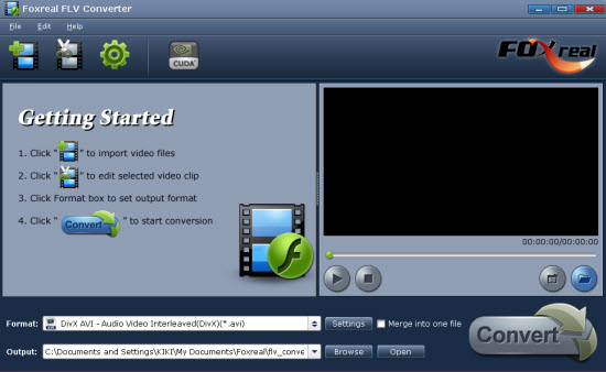 Convert FLV videos to MP4 3GP and MP3 for your blackberry iPod PSP iPhone. Screen Shot