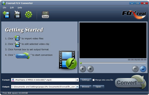 Foxreal FLV video Converter