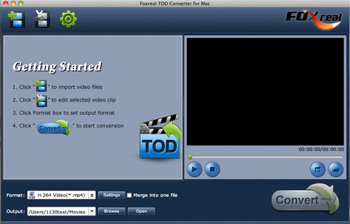 use Tod video Converter on Mac