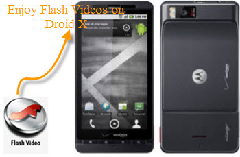 Put and play Flash videos on Droid X, Enjoy Flash videos on Droid X