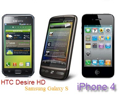 Samsung Galaxys, HTC Desire HD or iPhone 4