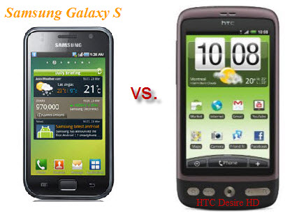 HTC Desire HD is a strong competitor for Samsung Galaxy S
