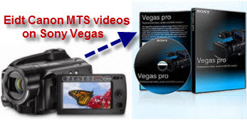 Convert and Import Canon MTS M2TS videos to Sony Vegas for editing